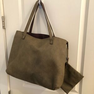 Free People Bags - Free People Taupe Reversible Tote